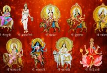 9 Colors on 9 days of Navratra
